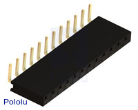 "0.100"" (2.54 mm) Female Header: 1x12-Pin, Right-Angle"