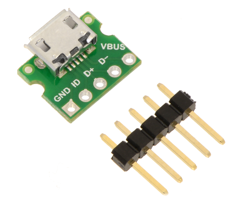 Pololu - USB Micro-B Connector Breakout Board (usb04b)