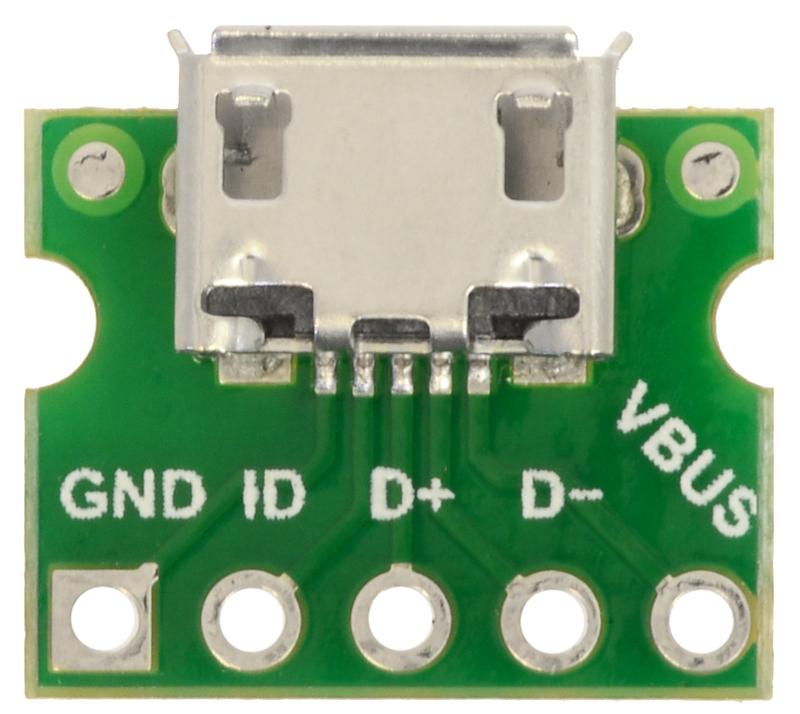Micro USB 2.0 Breakout Board Lötpads Connector Micro B Buchse