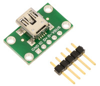 USB Mini-B Connector Breakout Board