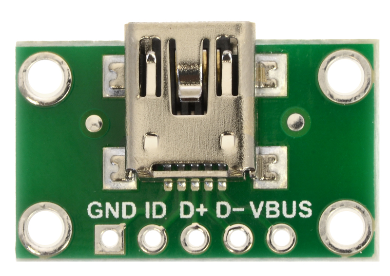 Micro USB 2.0 Breakout Board-Micro B hembra-lötpads Connector