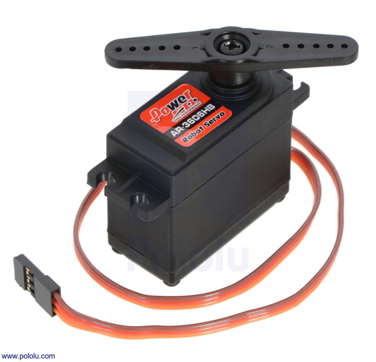 Pololu Power Hd Continuous Rotation Servo Ar 3606hb