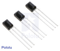 Vishay TSSP58x38 IR detector modules.