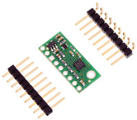 LSM303D 3D compass and accelerometer carrier with voltage regulator with included optional headers.