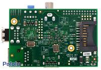 Raspberry Pi Model B, Revision 2.0, bottom view.