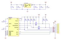 LSM303D 3D Compass and Accelerometer Carrier with Voltage Regulator schematic diagram.