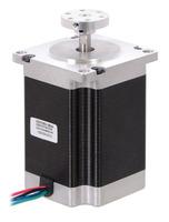 1/4″ Pololu universal aluminum mounting hub on a NEMA 23 stepper motor with 1/4″-diameter output shaft.