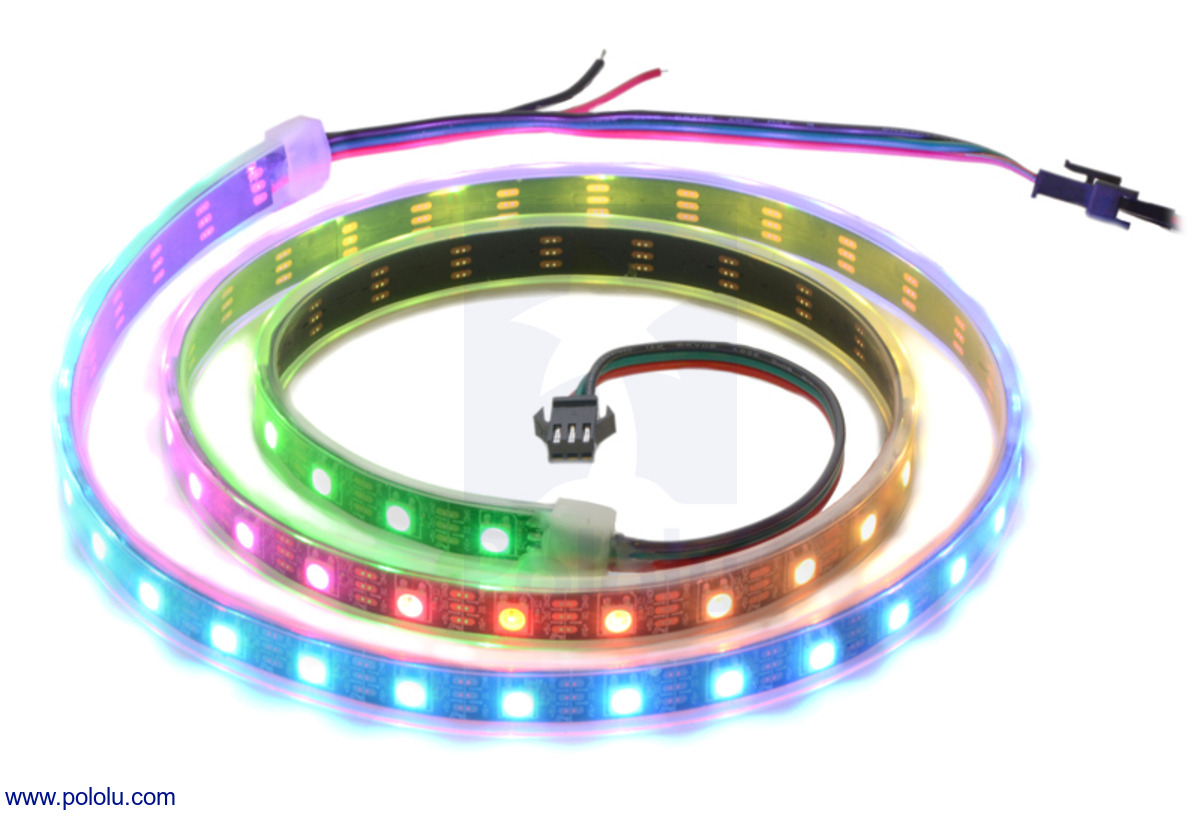 Pololu Addressable Rgb 60 Led Strip 5v 1m Sk6812 Strips Requiring More Than 1 Amp Wire The Power Directly To New