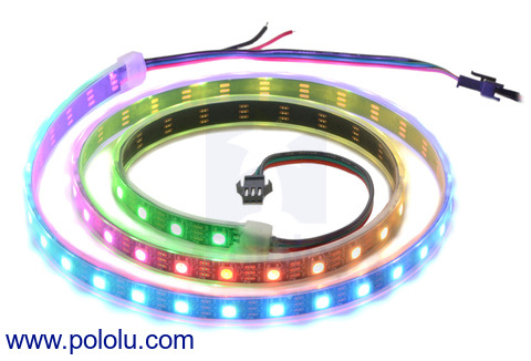 New products:  Addressable RGB LED strips based on the WS2812B