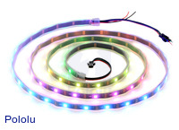 Addressable RGB 60-LED Strip, 5V, 2m (WS2812B)