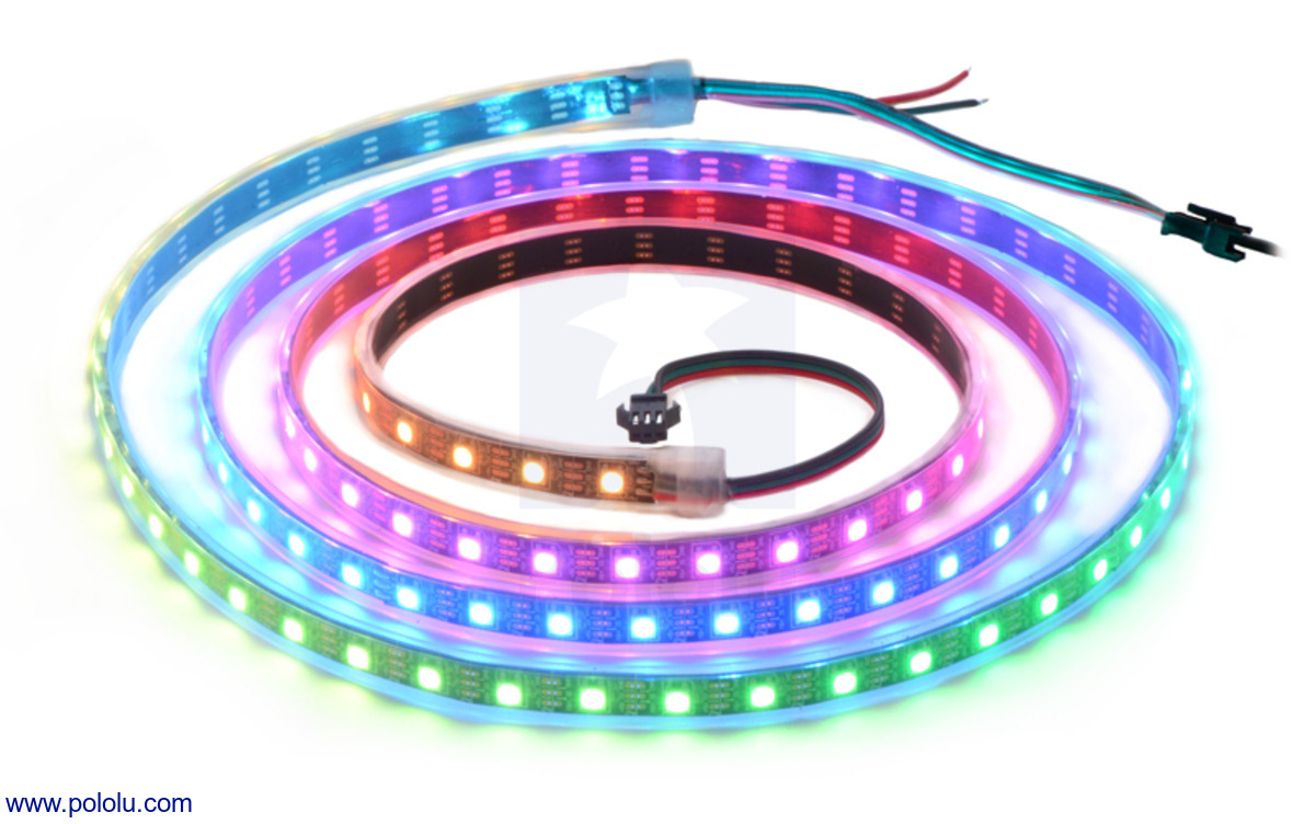Addressable RGB 120-LED Strip, 5V, 2m (WS2812B)