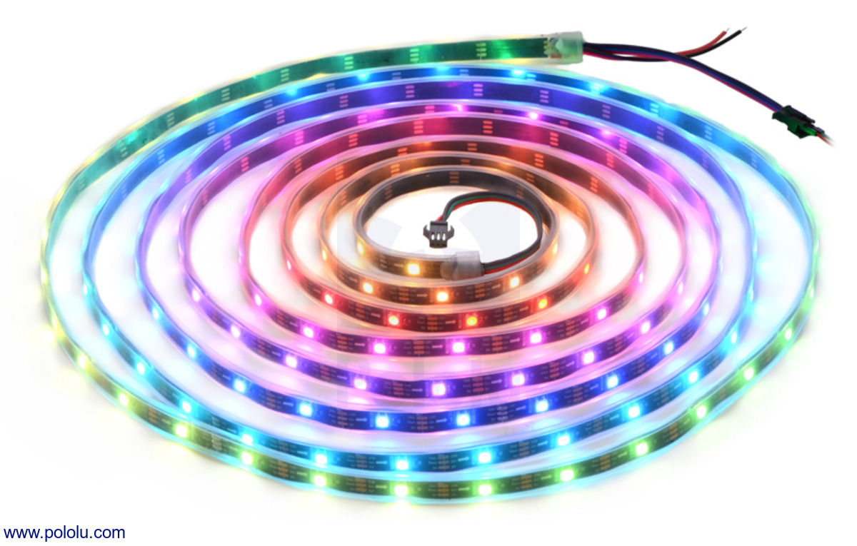 Pololu - Addressable RGB 150-LED Strip, 5V, 5m (WS2812B)