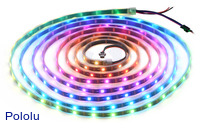 Addressable RGB 150-LED Strip, 5V, 5m (WS2812B)