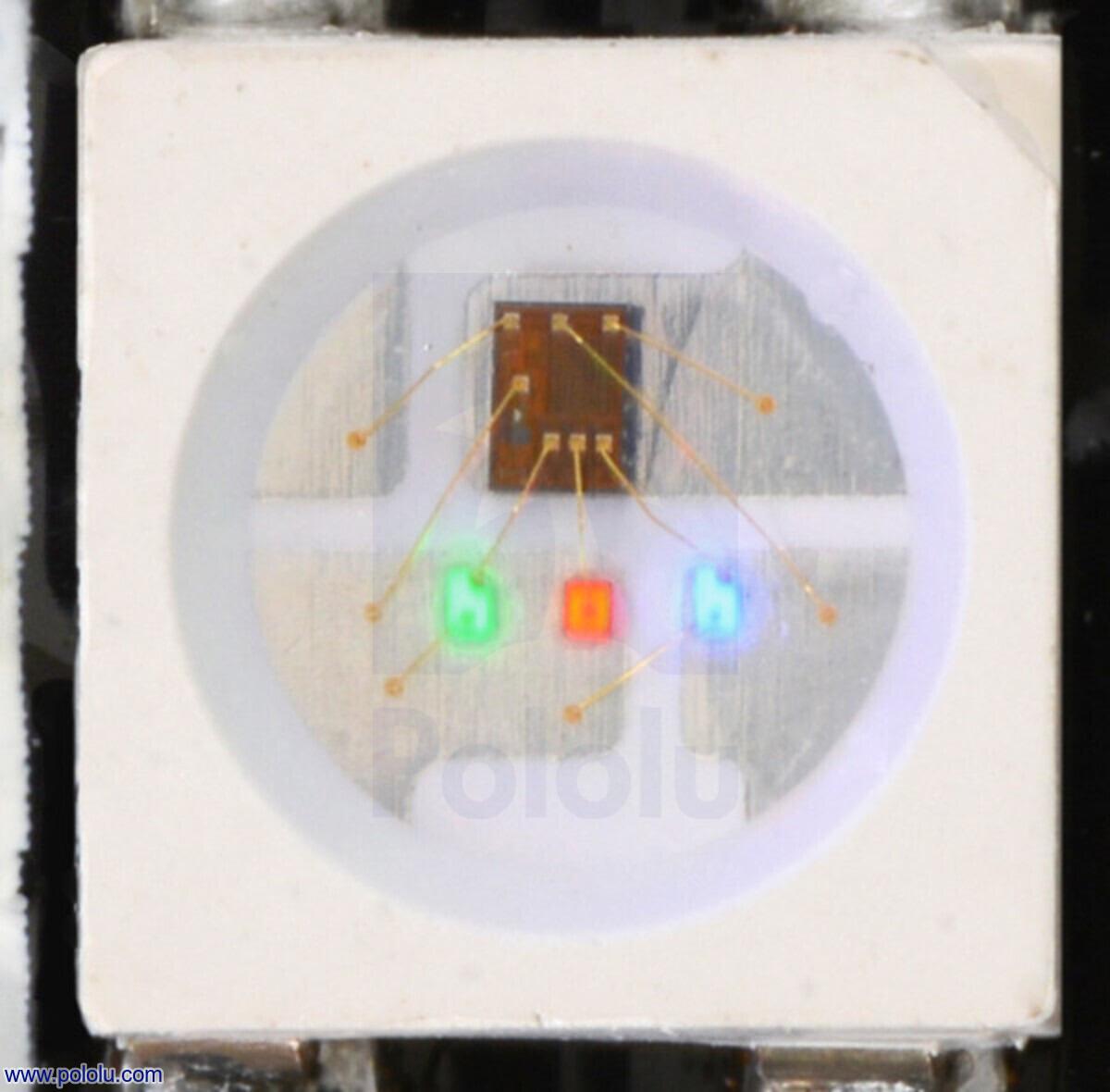 Schema Elettrico Dimmer Per Led : Pololu addressable rgb led strip v m ws b