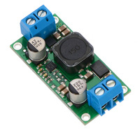 Pololu fixed step-up/step-down voltage regulator S18V20Fx, assembed with included terminal blocks.