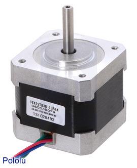 Pololu - New NEMA 17 stepper motor with optional integrated lead screw