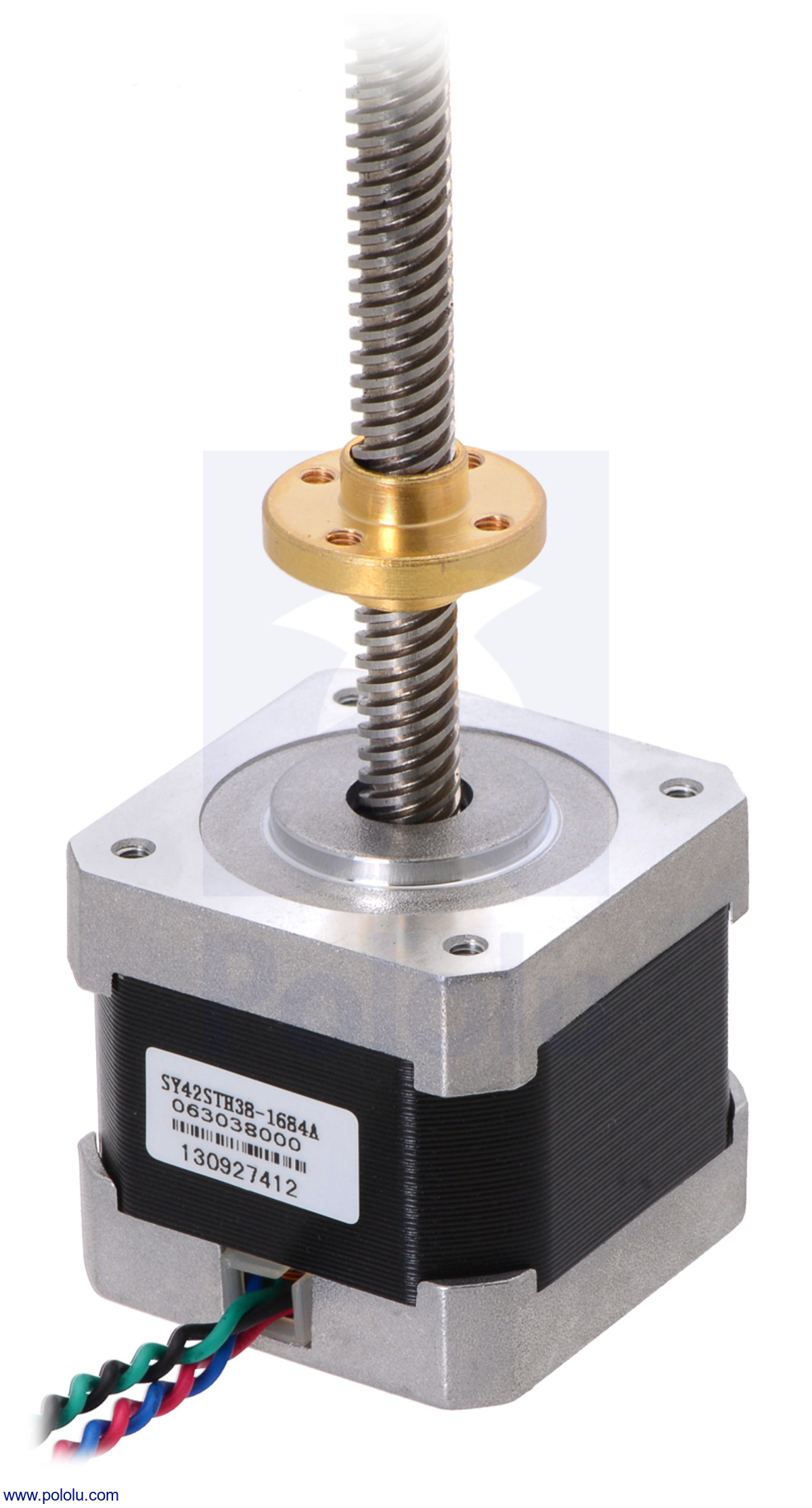Threaded rod stepper motor