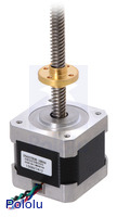 Stepper motor with 28cm lead screw: bipolar, 200 steps/rev, 42×38mm, 2.8V, 1.7 A/phase.