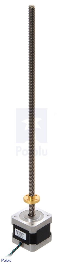 Pololu stepper motor with 28cm lead screw bipolar 200 Stepper motor with lead screw