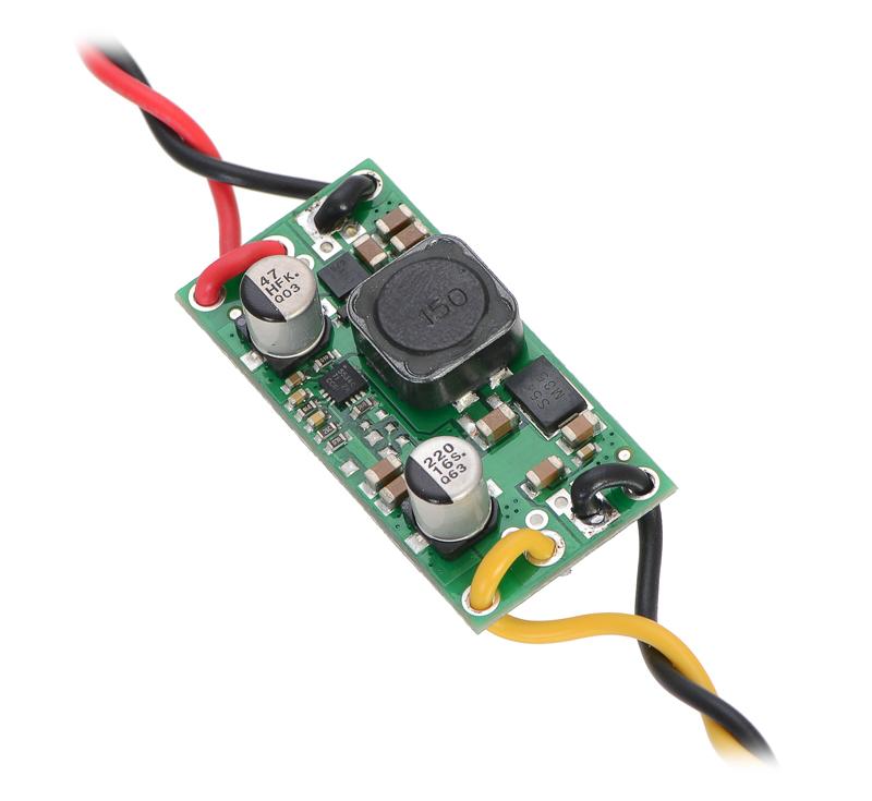 Pololu step-up/step-down voltage regulator S18V20x showing wires ...