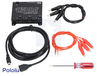 Hydra smart triple-output DC power supply with included components.