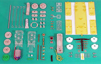 Tamiya 71101 Mechanical Dog kit contents.