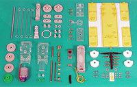 Tamiya 71101 Mechanical Dog kit contents.