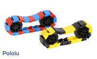 20-link chains of the miniature tank tracks in mixed colors with 8-tooth sprocket pairs.