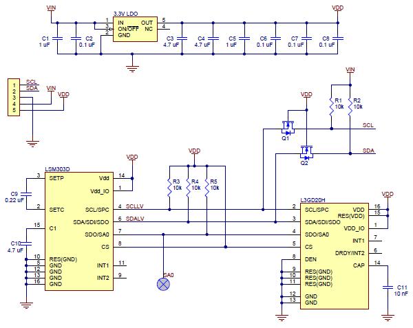 pololu - minimu-9 v3 gyro, accelerometer, and compass ... vip 722 schematic circuit diagram #2