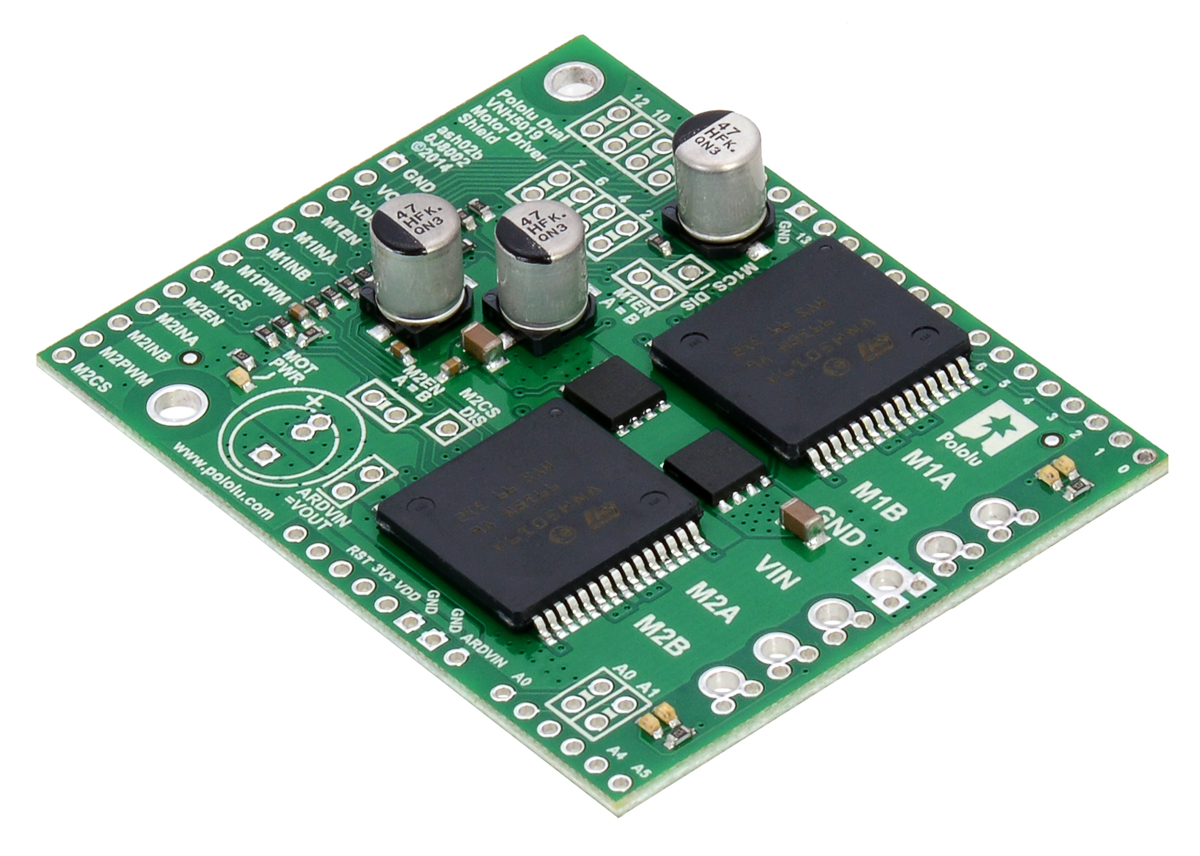 Pololu Dual Vnh5019 Motor Driver Shield For Arduino Electronic Microcontroller Projects H Bridge Circuit