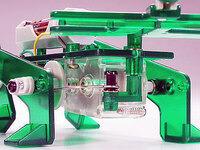 Tamiya 71103 Mechanical Beetle crank and linkage rod close-up.