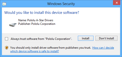 Pololu - 5 1  Installing Windows drivers