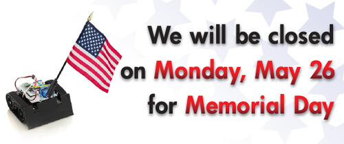 Closed Monday, May 26