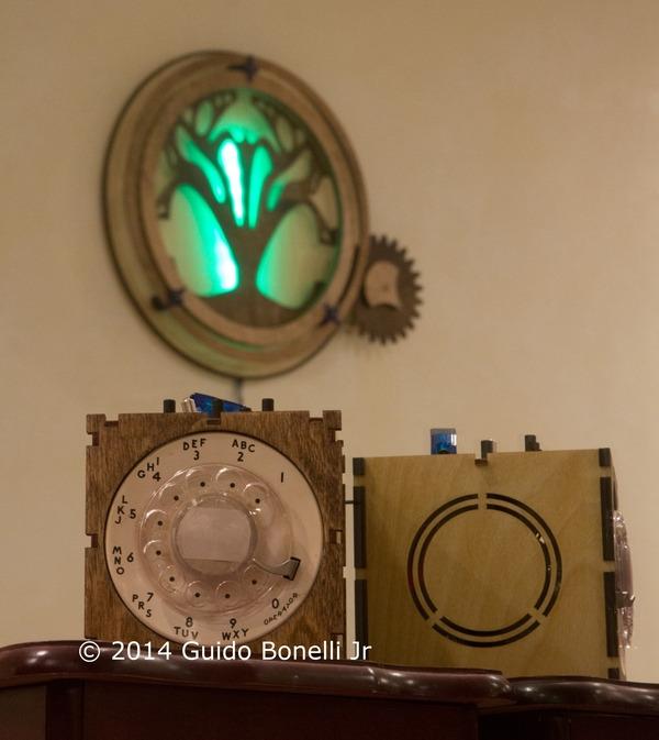 ORBIS - Wooden Kinetic and Lighting Sculpture