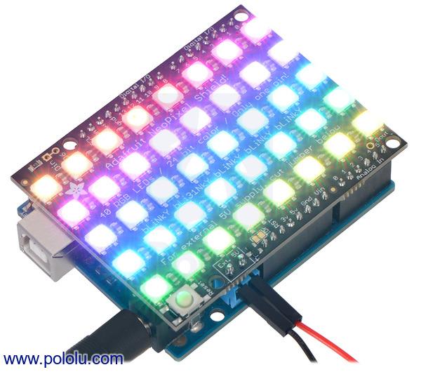 Pololu new product adafruit neopixel shield for arduino