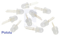 Addressable Through-Hole 8mm RGB LED with Diffused Lens, WS2811 Driver (10-Pack)