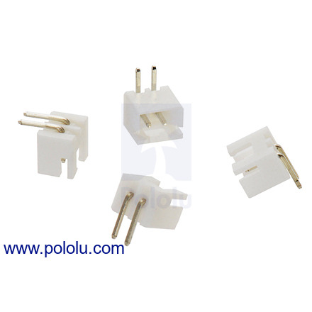 pololu connectors Wire Pins for Dogs 2 5 mm jst xh style shrouded male connector 2 pin right angle 4 pack