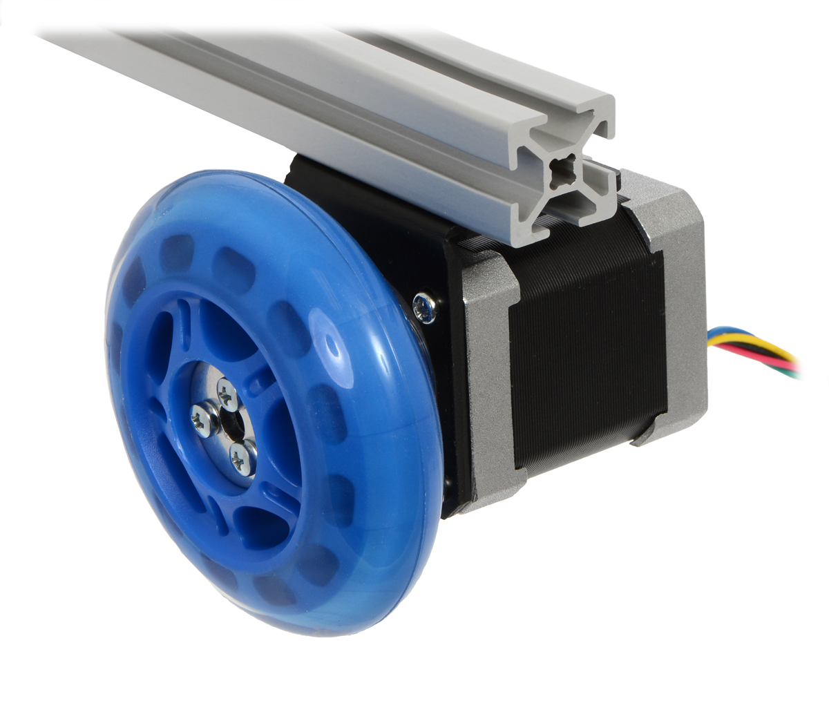 A Stepper Motor Connected To Scooter Wheel By The 5 Mm Adapter