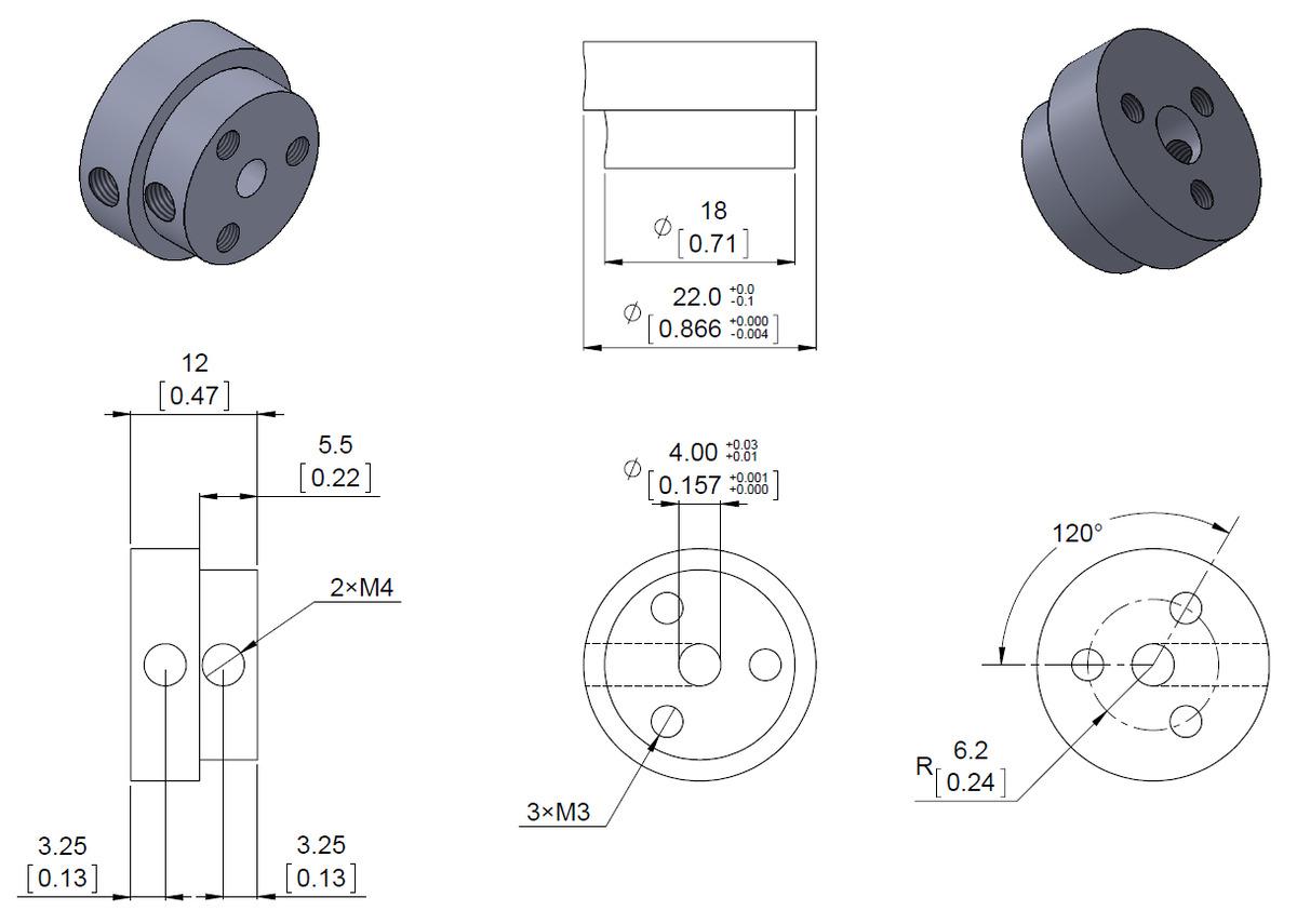 scooter diagram pololu dimension diagram of the pololu aluminum scooter wheel  pololu aluminum scooter wheel