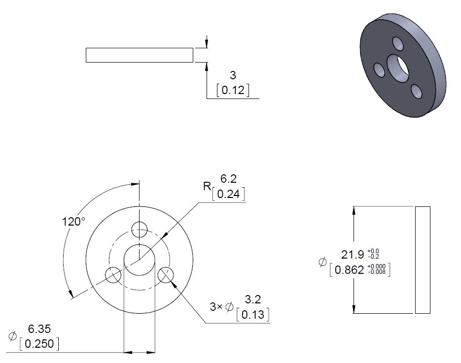 scooter diagram pololu aluminum scooter wheel adapter for 4mm shaft  scooter wheel adapter for 4mm shaft
