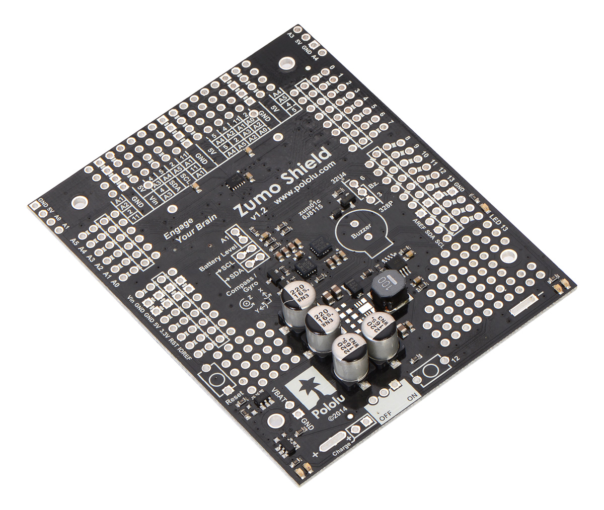 Pololu Zumo Shield For Arduino Users Guide Telephone Ringer Project Electronics Forum Circuits Projects And V12 As It Ships Assembled With Surface Mount Components Only
