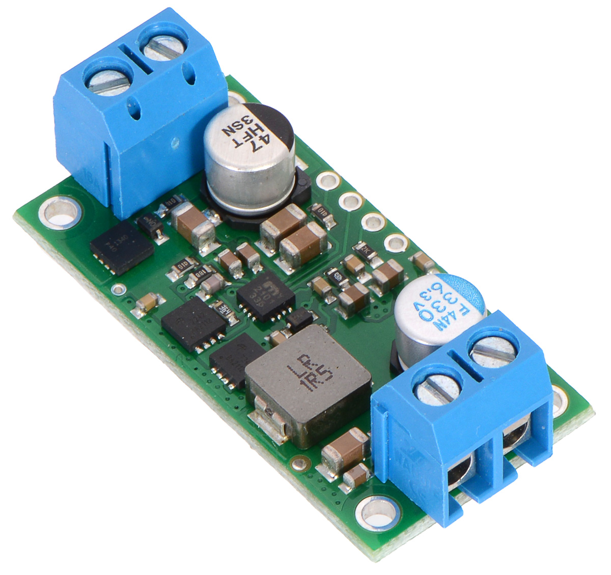 Pololu 5v 9a Step Down Voltage Regulator D24v90f5 Dc To Up Circuit Assembled With Included Terminal Blocks