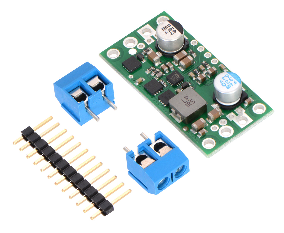Pololu 5v 9a Step Down Voltage Regulator D24v90f5 Electronics Technology 5vdc To 12vdc Lt1070 Boost Converter Circuit With Included Hardware