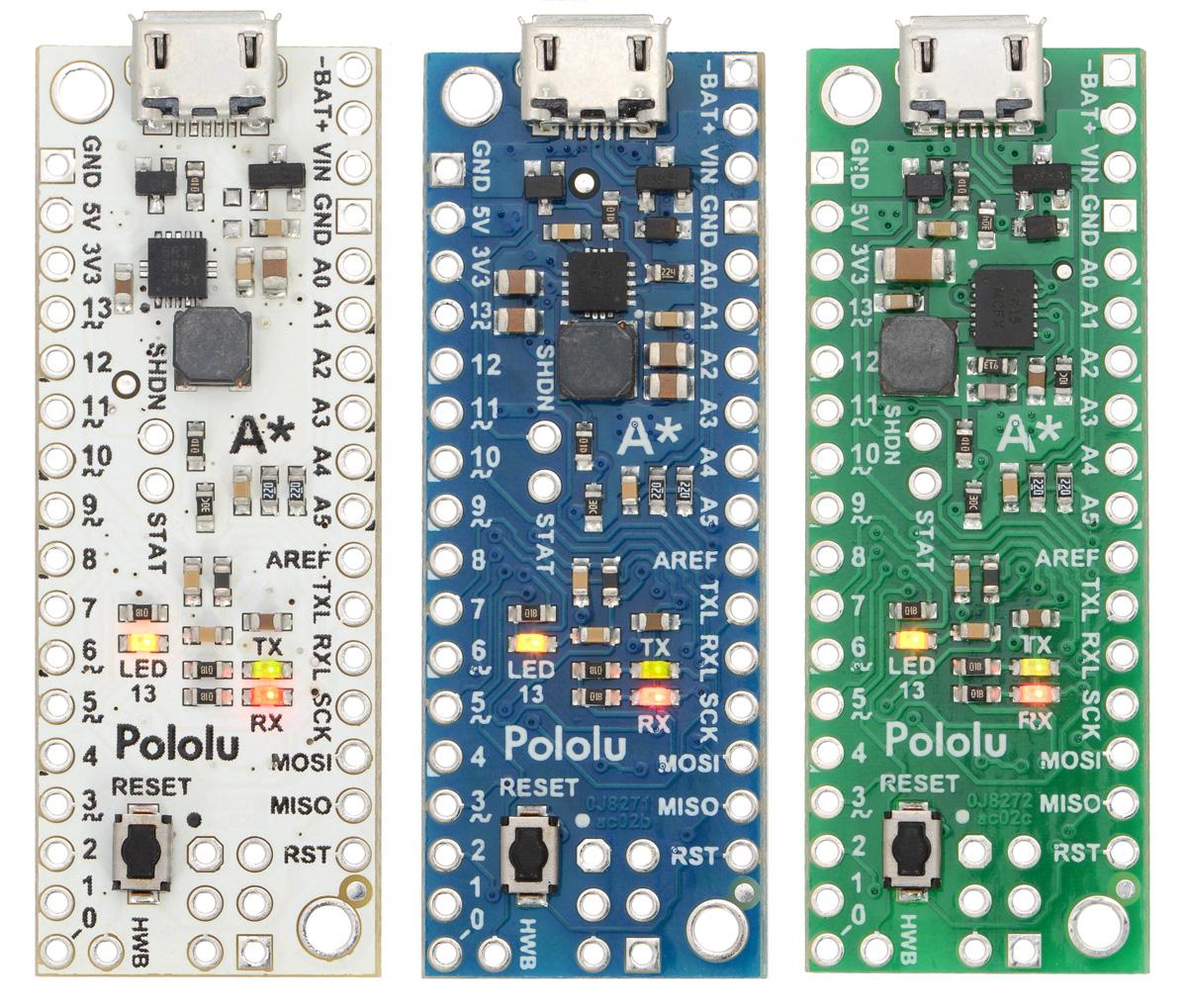 Pololu - New products: A-Star 32U4 Minis
