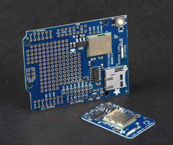 New products: CC3000 Wi-Fi breakout board and Arduino shield from Adafruit