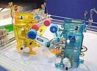 Two Tamiya 71110 Boxing Fighters in a boxing ring.