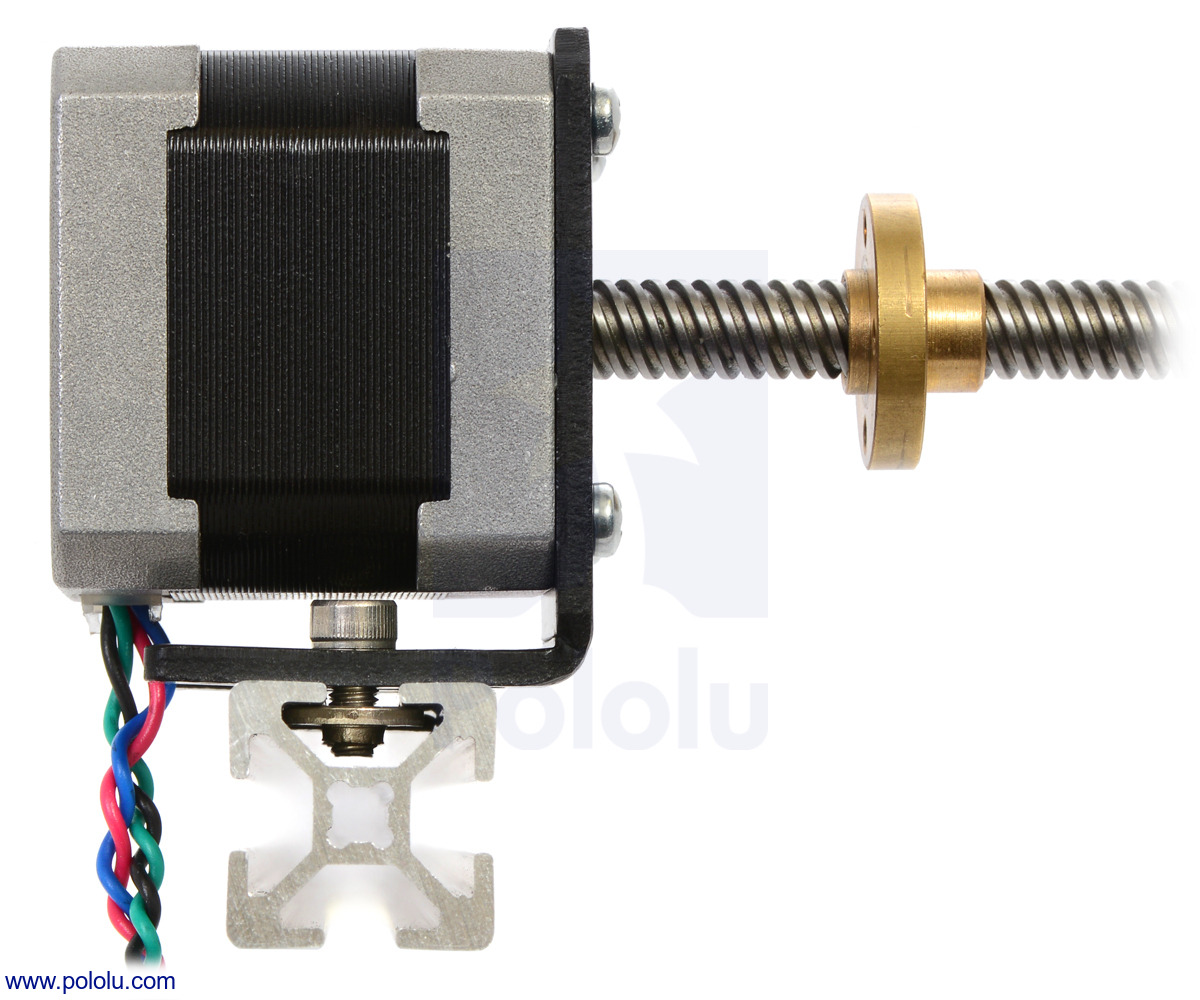 Pololu Stepper Motor With 28cm Lead Screw Bipolar 200
