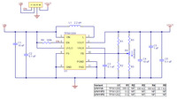 Pololu Step-Up Voltage Regulator U1V11x schematic diagram.
