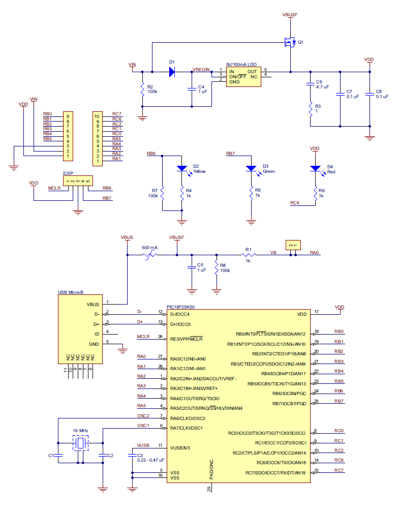 Pololu - 3.2. P-Star 25K50 Micro schematic and diions on