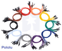 Premium jumper wires in assorted colors.